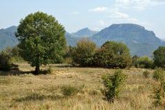 Landscape near Glozhene Monastery, Stara Planina Mountain  Balkan Mountains, Lovech region, Bulgaria Royalty Free Stock Images