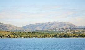 Landscape near Igoumenitsa and  Corfu. Greece.  Royalty Free Stock Photos