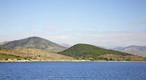 Landscape near Igoumenitsa and  Corfu. Greece.  Royalty Free Stock Images