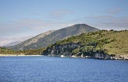 Landscape near Igoumenitsa and  Corfu. Greece.  Royalty Free Stock Photo