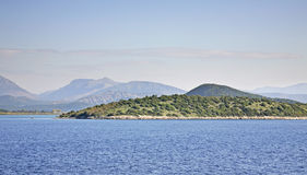 Landscape near Igoumenitsa and  Corfu. Greece.  Royalty Free Stock Image
