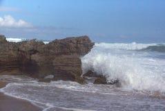 Landscape near Johanna Beach. Wave breaking on rocks at Johanna Beach, Australia Stock Photography