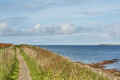 Landscape near John o`Groats area. Highlights nothern most mainland of Scotland.  royalty free stock photography