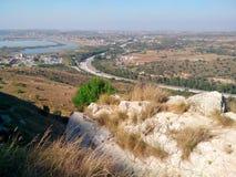 Landscape near the Kalar Kahar Stock Image