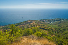 Landscape near Katsiveli resort in Crimea, Ukraine. Royalty Free Stock Photography