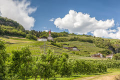 Landscape near Klausen, South Tyrol Royalty Free Stock Images