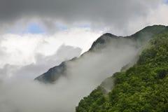 Landscape near  Kobarid. Clouds. Slovenia.  Royalty Free Stock Image