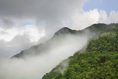 Landscape near  Kobarid. Clouds. Slovenia.  Royalty Free Stock Photo