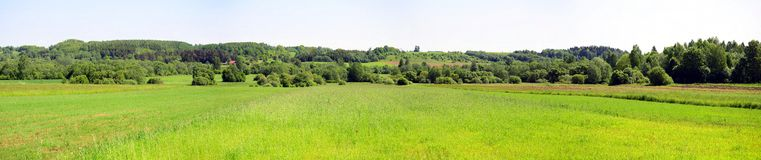 Landscape near Kurkliai town in the Anyksciai district Royalty Free Stock Photo