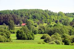 Landscape near Kurkliai town in the Anyksciai district Royalty Free Stock Photography