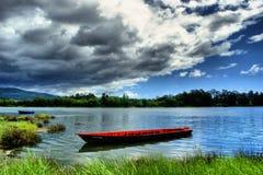 Landscape near Lima river in Viana do Castelo stock photo