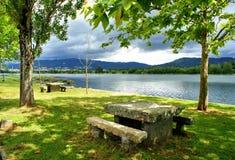 Landscape near Lima river in Viana do Castelo Stock Photos