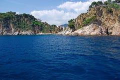 Landscape near Lloret de Mar. stock images