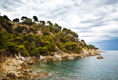 Landscape near Lloret de Mar, Catalonia, Spain. Royalty Free Stock Photo