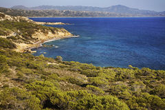Landscape near Monolithos village. Rhodes island. Greece Royalty Free Stock Image