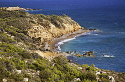 Landscape near Monolithos village. Rhodes island. Greece Royalty Free Stock Photo