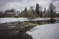 Landscape near Moscow includiing an alcove and a river Royalty Free Stock Images