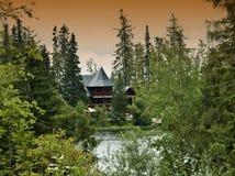Landscape near by mountain Hight tatry. Lake strbske pleso royalty free stock images