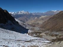 Landscape near Muktinath, Lower Mustang Region, Nepal Stock Images