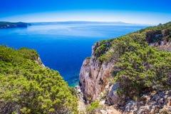 Landscape near the Neptune Grotto cave Grotta di Nettuno in Alghero, Sardinia.  Stock Image