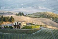 Landscape near Pienza Stock Photo