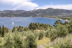 Landscape near Portoferraio, Elba, Tuscany, Italy Stock Image
