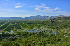 Landscape Near Raba. The landscape near the village of Raba in the coastal Dubrovnik–Neretva county of Croatia Stock Images