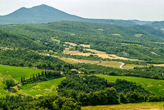 Landscape near Sarteano (Tuscany) at summer Stock Image