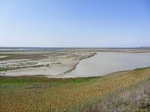 Landscape near Sivash Sea Stock Images