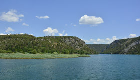 Landscape Near Skradin. The landscape near the small town of Skradin on the coast of the Sibenik-Knin County of Croatia stock photo