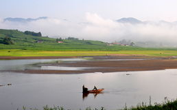 Landscape near Songhua lake Royalty Free Stock Photography