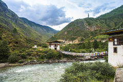 Landscape of near thimphu bhutan Royalty Free Stock Images