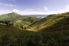 Landscape near Toba lake in Sumatra stock images