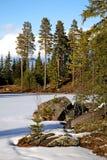 Landscape near Tomteland. Dalarna. Sweden Royalty Free Stock Images
