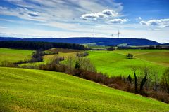 Landscape near the town of Tengen Garmany stock photos