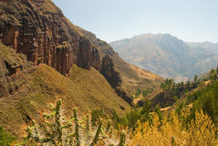 Landscape near the Urubamba valley, cusco, peru Royalty Free Stock Photo