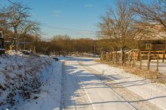 Landscape Near Vojnic in Karlovac County. The winter landscape near the small town of Vojnic in Karlovac County, central Croatia royalty free stock image