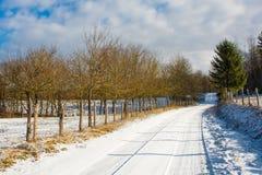 Landscape Near Vojnic in Karlovac County. The winter landscape near the small town of Vojnic in Karlovac County, central Croatia stock photography