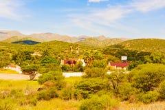 Landscape near Windhoek in Namibia. Rural area landscape near Windhoek in Namibia royalty free stock photo
