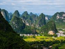 Landscape Near Yangshuo Stock Photography