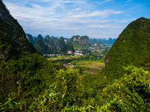 Landscape near Yangshuo Royalty Free Stock Photo