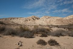 Landscape of the Negev desert Royalty Free Stock Images