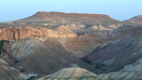 Landscape Negev Desert Israel. Sunset over Tzin Riverbed in the Negev desert, Israel stock footage
