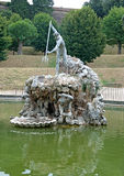 Landscape of Neptune's fountain in Boboli gardens, Florence, Italy Stock Photography