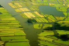 Landscape in Netherlands. Aerial view of a landscape in Netherlands Stock Photo