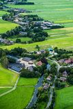 Landscape of the Netherlands, living near a river Stock Photo