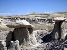 Landscape of desert in New Mexico. Stunning view of the desert in New Mexico stock image