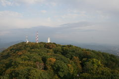 Landscape of new Sochi during an autumn time. Royalty Free Stock Photography