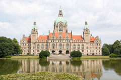 New Town Hall in Hanover Stock Images