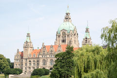 Landscape of the New Town Hall in Hanover, Germany Stock Image
